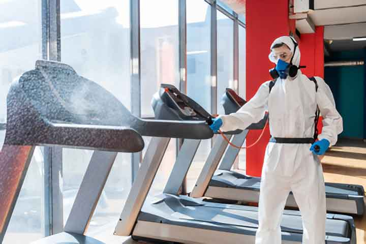 disinfecting gym equipment